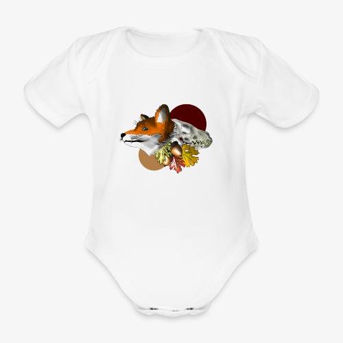 Autumn Foxey - Body ecologico per neonato a manica corta