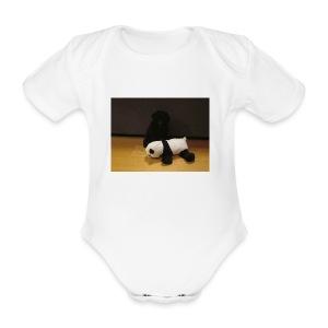 Maggie och pandan - Ekologisk kortärmad babybody