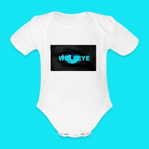 WolfEye T-Shirt - Organic Short-sleeved Baby Bodysuit