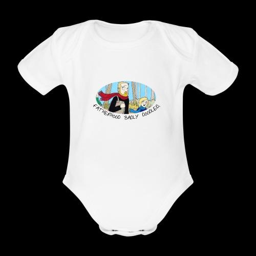 Fatherhood Badly Doodled - Organic Short-sleeved Baby Bodysuit