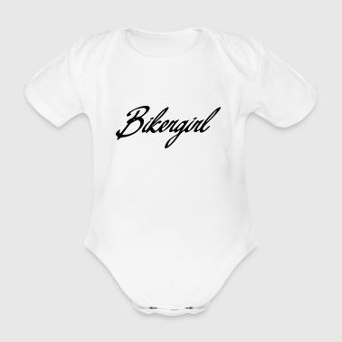 bikergirl - Organic Short-sleeved Baby Bodysuit