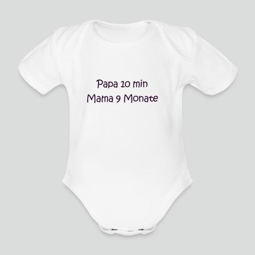 Wer hat wieviel Leistung in mich gesteckt? :) - Baby Bio-Kurzarm-Body