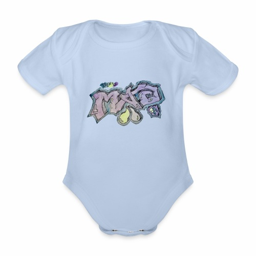 Life Is Mad TM Collaboration - Organic Short-sleeved Baby Bodysuit