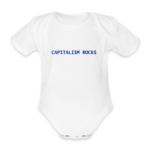 CAPITALISM ROCKS - Body ecologico per neonato a manica corta