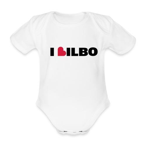 i love Bilbo - Body orgánico de maga corta para bebé