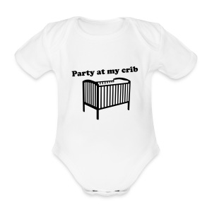 Party At My Crib - Organic Short-sleeved Baby Bodysuit