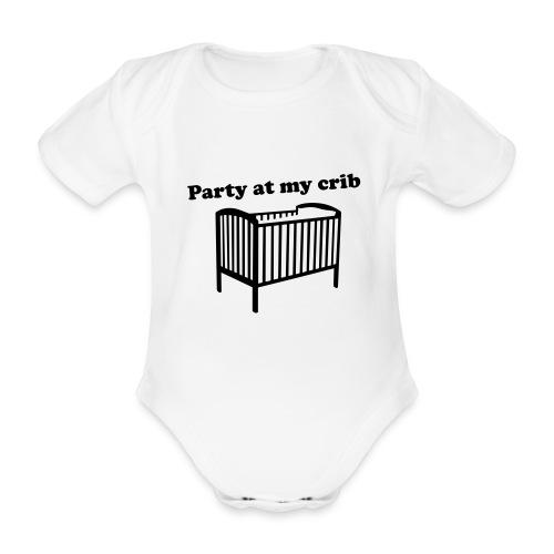 Party At My Crib - Organic Short-sleeved Baby Bodysuit