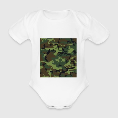 camo - Vauvan lyhythihainen luomu-body