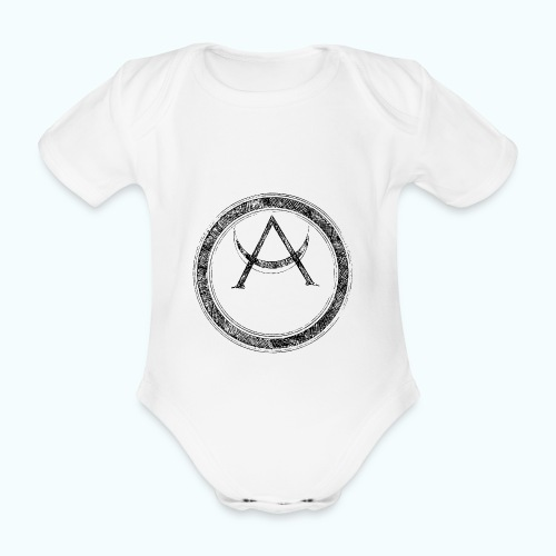 Mystic motif with sun and circle geometric - Organic Short-sleeved Baby Bodysuit