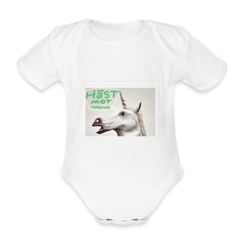 haest mot folkgrupp - Ekologisk kortärmad babybody