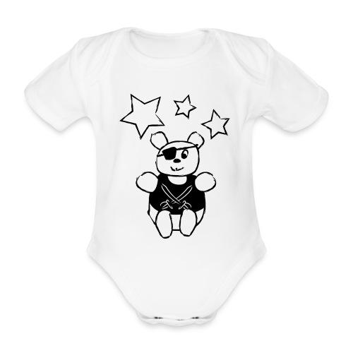Teddy Pirate - Body Bébé bio manches courtes