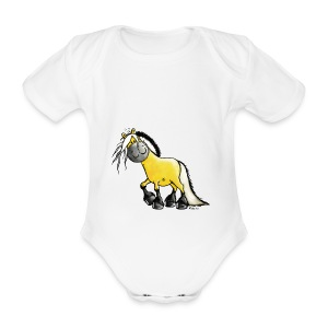 fjord_horse-png - Organic Short-sleeved Baby Bodysuit