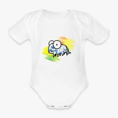 dziwny stworek akwarele - Ekologiczne body niemowlęce z krótkim rękawem