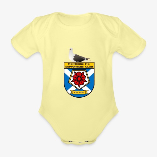 Montrose FC Supporters Club Seagull - Organic Short-sleeved Baby Bodysuit