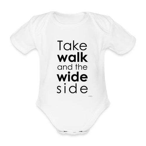 LOU-REDD-walk-black - Body Bébé bio manches courtes