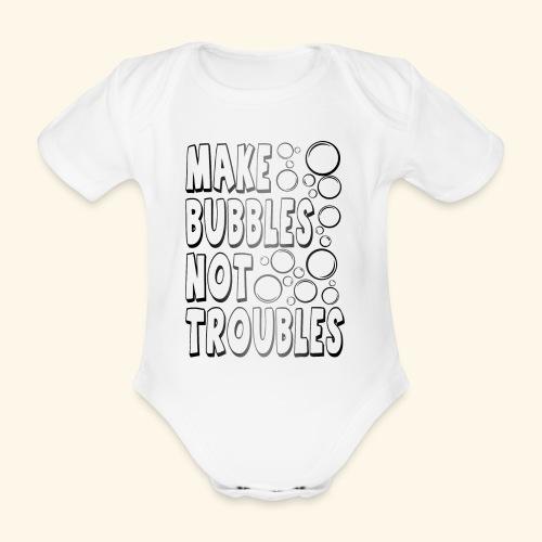 Bubbles002 - Baby bio-rompertje met korte mouwen