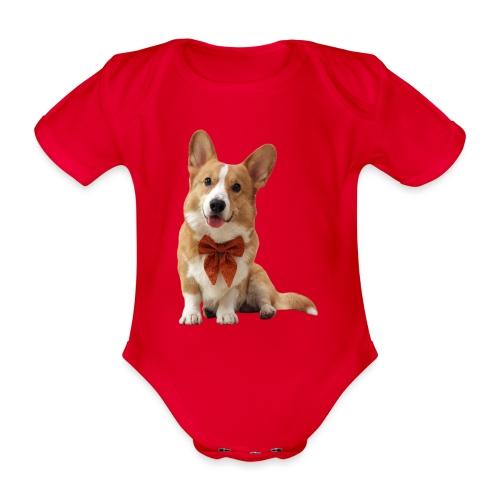 Bowtie Topi - Organic Short-sleeved Baby Bodysuit