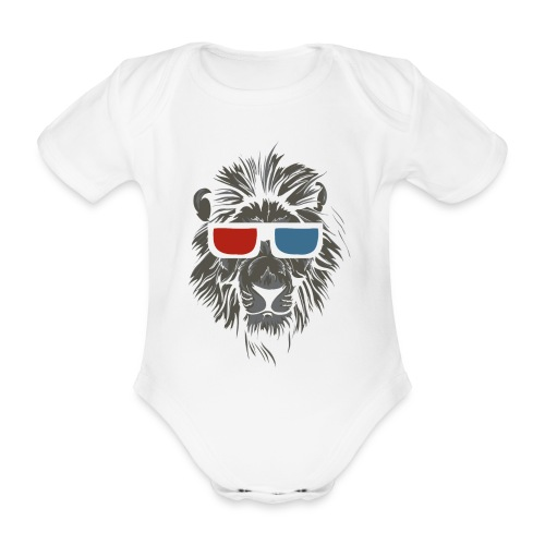 Lion 3D - Ekologisk kortärmad babybody