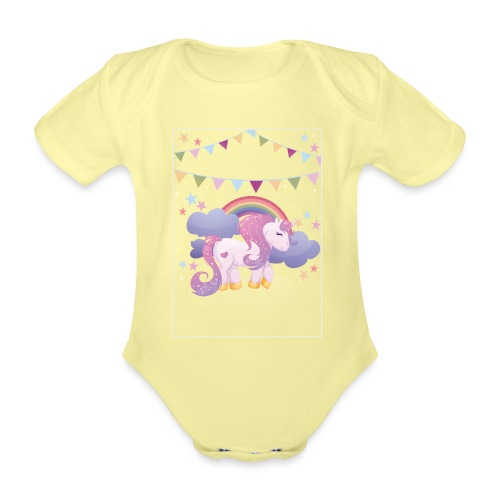 Dream horse - Organic Short-sleeved Baby Bodysuit