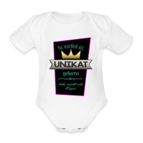 Unikat - Baby Bio-Kurzarm-Body