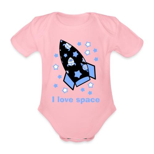 I love space - Body ecologico per neonato a manica corta