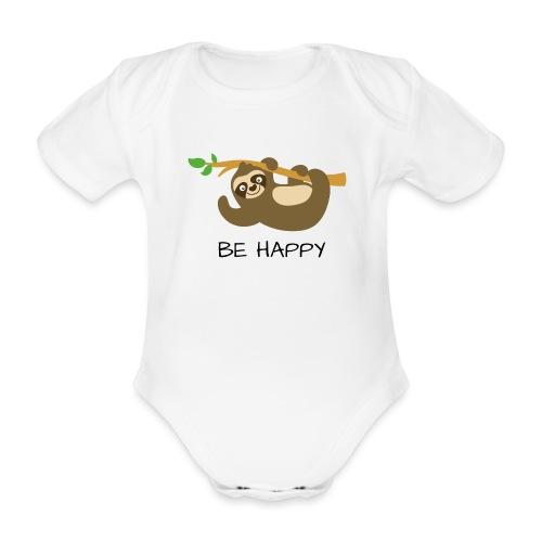 BE HAPPY - Baby Bio-Kurzarm-Body