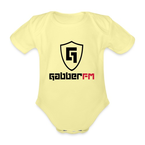 Gabber FM Logo Letters - Organic Short-sleeved Baby Bodysuit
