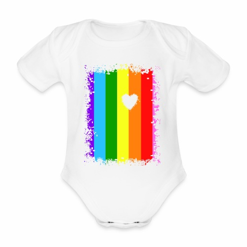 Love under the rainbow - Baby Bio-Kurzarm-Body