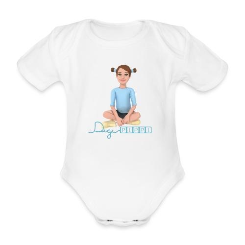 DigiPippi - maskot og logo - Kortærmet babybody, økologisk bomuld