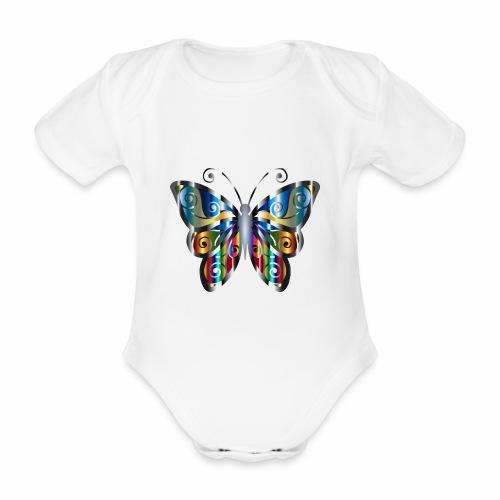 butterfly - Ekologiczne body niemowlęce z krótkim rękawem
