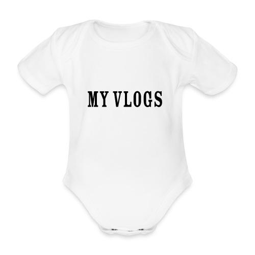 My Vlogs - Organic Short-sleeved Baby Bodysuit