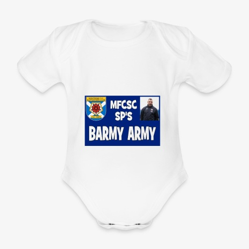Barmy Army - Organic Short-sleeved Baby Bodysuit