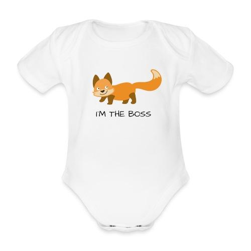 I´M THE BOSS - Baby Bio-Kurzarm-Body