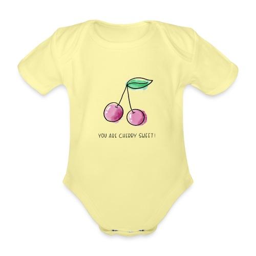 Fruit Puns n°1 Cherry Sweet - Baby Bio-Kurzarm-Body