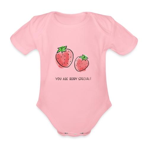 Fruit Puns n°1 Berry Special - Baby Bio-Kurzarm-Body
