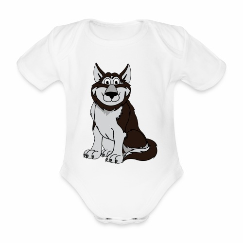 Husky - Baby Bio-Kurzarm-Body