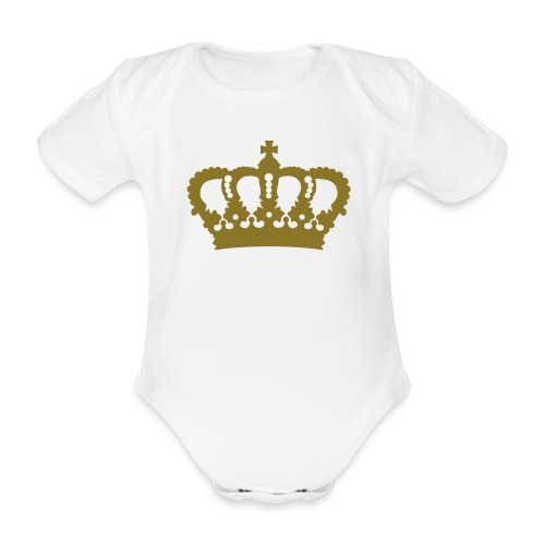 Krone König Königin Prinz Prinzessin Royal - Baby Bio-Kurzarm-Body