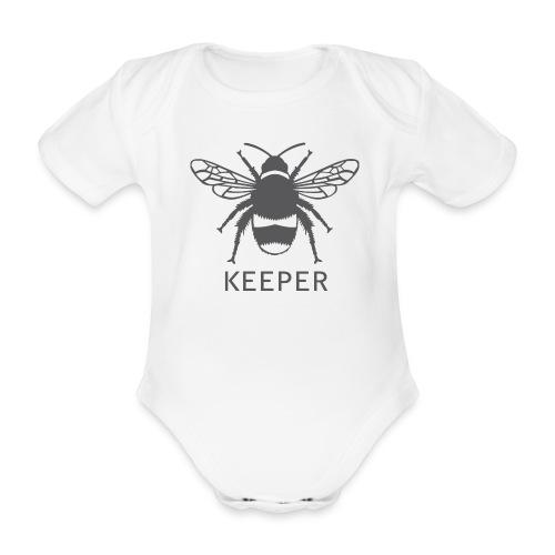 Bee Keeper - Organic Short-sleeved Baby Bodysuit