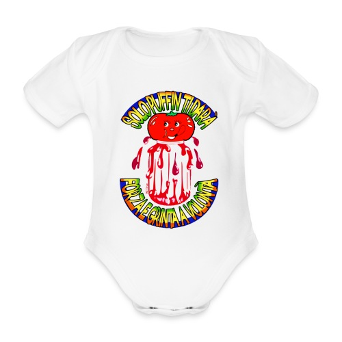 Puffin - Organic Short-sleeved Baby Bodysuit