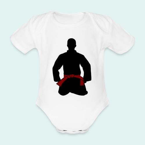 Judo Braungurt - Baby Bio-Kurzarm-Body