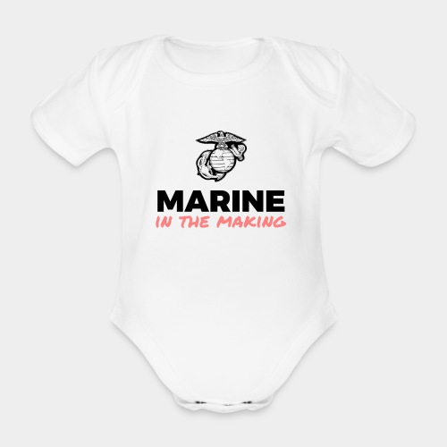 Marine in the Making - Organic Short-sleeved Baby Bodysuit