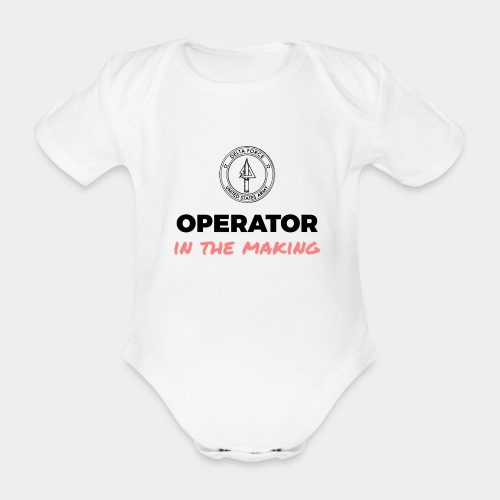 Operator in the making. - Organic Short-sleeved Baby Bodysuit