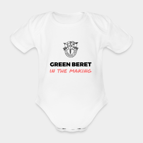 Green Beret in the Making - Organic Short-sleeved Baby Bodysuit