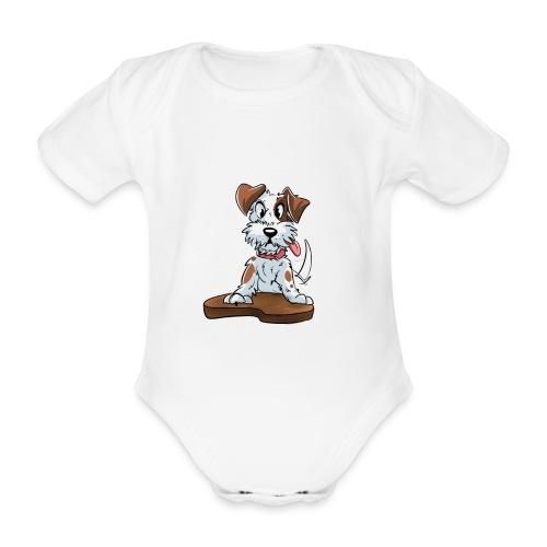 Jack Russell Terrier baby kleding. - Baby bio-rompertje met korte mouwen
