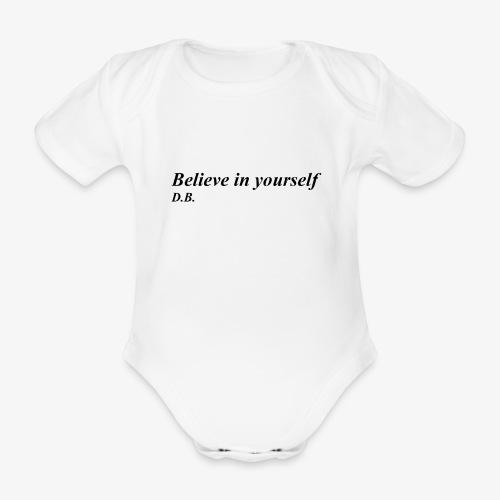 Credi in te stesso - Body ecologico per neonato a manica corta