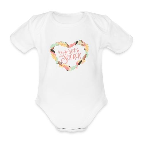 Söt som socker - Godis hjärta - Ekologisk kortärmad babybody
