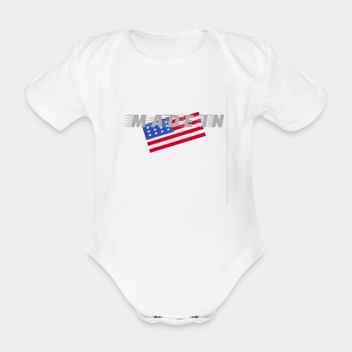 Made In USA - Organic Short-sleeved Baby Bodysuit