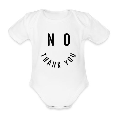 NO THANK YOU - Baby Bio-Kurzarm-Body