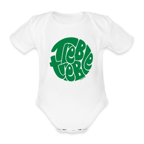 TrebleTreble Green - Organic Short-sleeved Baby Bodysuit