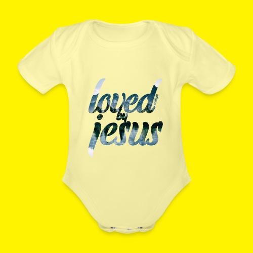 LOVED BY JESUS - Organic Short-sleeved Baby Bodysuit